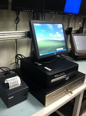 "All In One Pos System W/15"" Elo Touch Monitor, Cash Drawer And Printer"