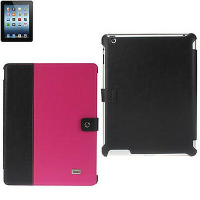 Synthetic Leather Portfolio Case(Multi-Colors) And Screen Protectors For iPad