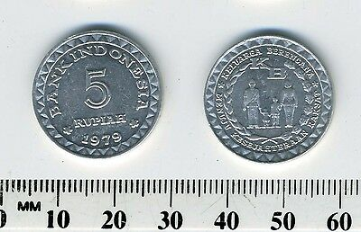 Indonesia 1979 - 5 Rupiah Aluminum Coin - Family Planning Program