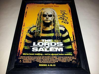"The Lords Of Salem Signed & Framed 12""x8"" Poster Rob Zombie Sheri Moon"