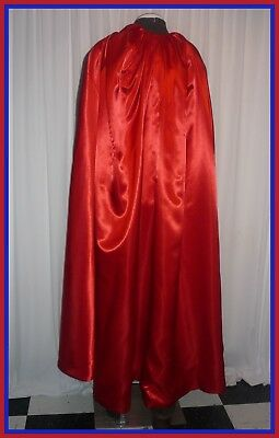 Red /& Blue USA Cape Reversible Satin Men/'s S to XXL Christmas Red /& Green Cloak