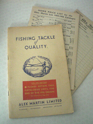 A Vintage Alex Martin Advertising Catalogue For 1954/55 With Price List