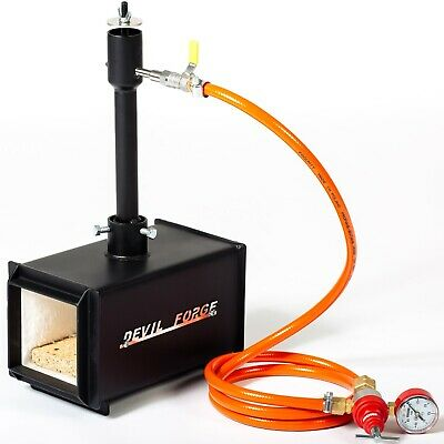 Gas Propane Forge Furnace Raku Kiln Burner Torch DFPROF1 Farrier Blacksmith