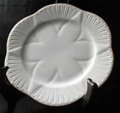 "Vin SHELLEY Bone China England White Gold Trim REGENCY 5 7/8"" Bread Butter Plate"
