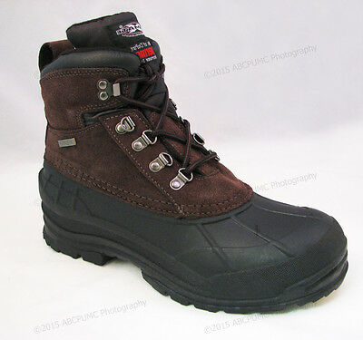 """Men's Winter Boots Leather 6"""" Insulated Waterproof Hiking Snow Shoes Size:6-13"""
