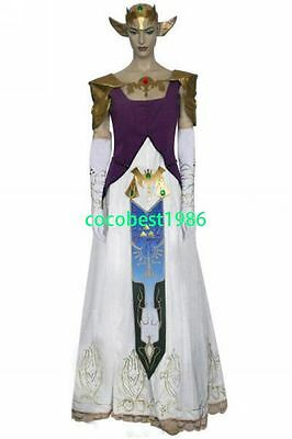 The Legend of Zelda High Quality Princess Zelda Cosplay Costume any size
