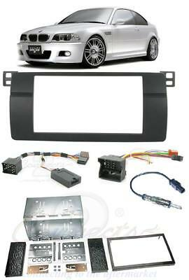 BMW 3 SERIES E46 Complete Double Din Car Stereo Fitting Kit Facia Stalk Aerial