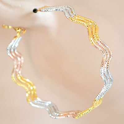Orecchini donna cerchi oro argento strass earrings ohrringe pendientes boucles