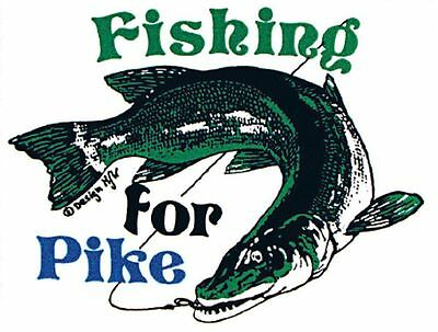Aufkleber Applikation Fisch Fische Angler Fishing for Pike 307128