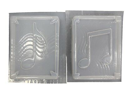 Music Notes Wall Plaque Concrete Plaster Mold 7025