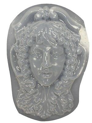 Greenlady Face Wall Plaque Concrete Plaster Mold 7028