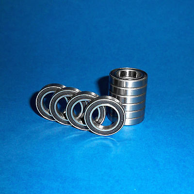 10 Kugellager 6805 / 61805 2RS / 25 x 37 x 7 mm