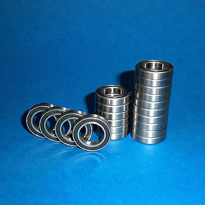 50 Kugellager 6805 / 61805 2RS / 25 x 37 x 7 mm