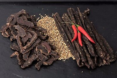 Biltong 500g - Half SLICED Original & Half CHILLI Bites