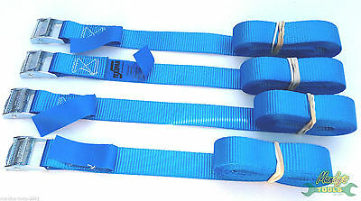 4 x 3m Cam Buckle Tie Down Endless Lashing 25mm Web Strap 500kg for Luggage CB03