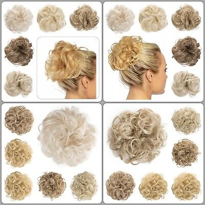 Koko Large Hair Scrunchie Wrap Curly Wavy Messy Updo Hairpiece Natural Various