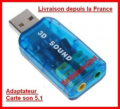 Adaptateur Clé Carte son usb 2.0 surround stereo 5.1 virtual clef