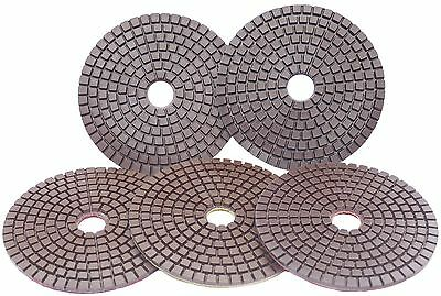 "Premium 100mm (4"") Copper bonded Diamond Polishing pads Terrazzo Marble UK"
