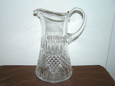 Large Antique Cut Glass Chrystal Water Or Juce Jug.