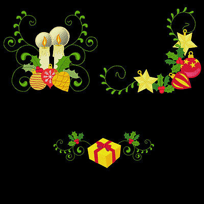 Curly Christmas Borders & Corners - 30 Machine Embroidery Designs (Azeb)