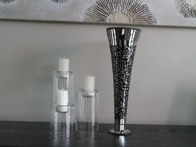 Large  Mosaic Vase Dark or light  40cm tall buy 1 get 1 free reduced to clear