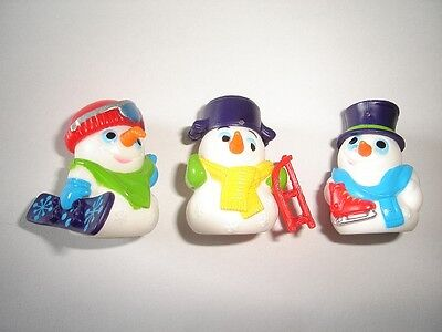 Christmas Snowmen Ball Heads 1999 Kinder Surprise Figures Toys - Xmas Decoration