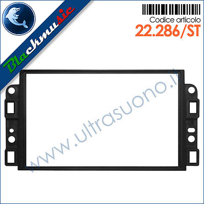 Mascherina supporto autoradio 2ISO-2DIN Chevrolet Captiva (2006-2011)