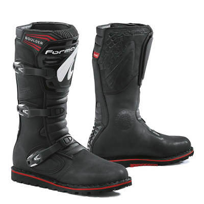 Forma Boulder motorcycle boots, mens, black, brown, all sizes, trials