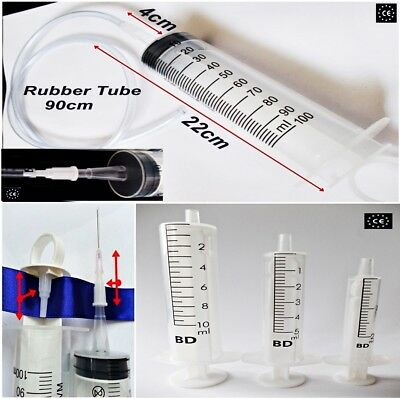 100ml + tube 90cm Syringes,Medical Sterile Injections Hypodermic,2ml 5ml 10ml 50