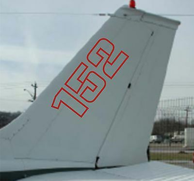 152 decal tail Aircraft 2 sticker cessna piper airplane piper jet