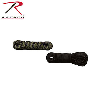 """50 Foot 3/8"""" Rope General Purpose Utility Woodland Camouflage 312 Rothco"""