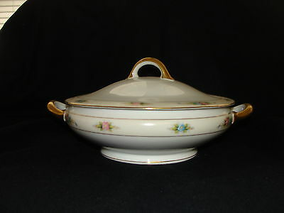 Royal Bayreuth Bavaria CHICAGO Floral Spray Covered Serving Dish