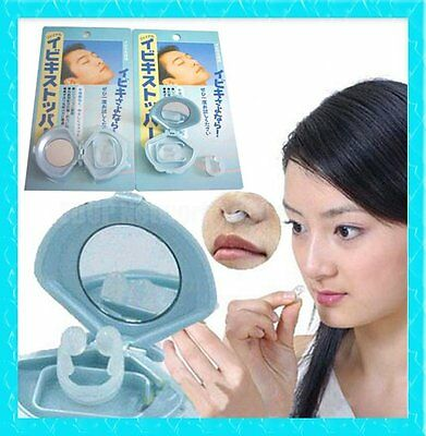 Stop Snoring & Sleep Apnea, Soft Nose Clip & Travel Mirror, Husband's Home Gift