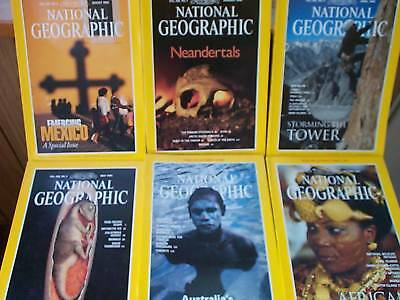 1996 National Geographic Collection Of Six, 6 Magazines