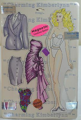 1993 Charming Kimberlynn Magnetic Fashion Paper Dolls Fridgy Inc Super Size