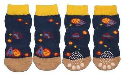 Non-Slip Dog Socks Blue Space - Small to XL (10kg to 60kg)