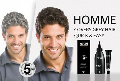 Men Hair Colour Kit, Covers Grey Hair in 5 minutes, Ammonia Free, Greys & Browns
