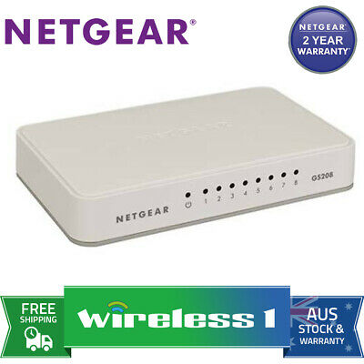 Netgear GS208 8 Port Gigabit Switch