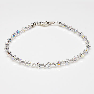 Clear Ab Crystal Twisted Anklet made with Swarovski Elements