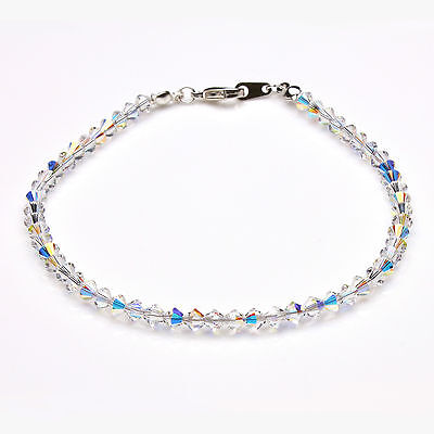 Clear Ab Crystal Anklet using Swarovski Elements