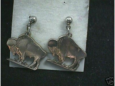 Standing Buffalo Cut Coin Earrings Nice  Look
