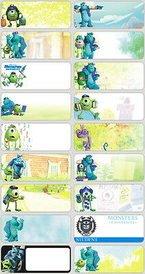 60 Large Monsters University pictures personalised name label