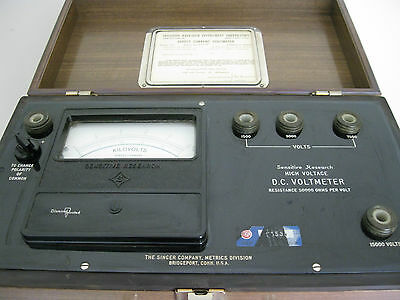 Sensitive Research Dchi Dc Voltmeter-Singer Co.