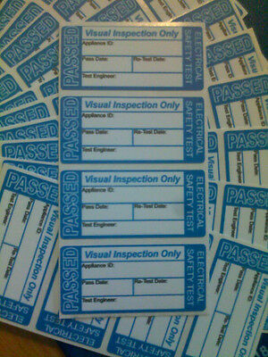 100 X Passed Visual Inspection Pat Test Stickers labels