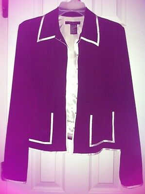 Womens Size 12 E C I New York Black And Ivory Blazer Clothing, Shoes & Accessories Suits & Suit Separates