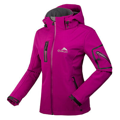 Women's Waterproof Soft Shell Camping Hiking Travel Softshell Outdoor Jacket