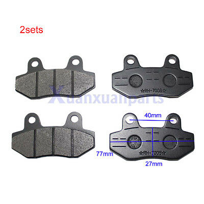 2setx Gy6 Scooter Moped Disc Brake Pads 50cc 125cc 150cc 250cc Roketa TaoTao ATV