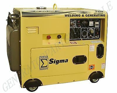 7000 Watt Silent Diesel Welding Generator Electric Start In Stock Miami