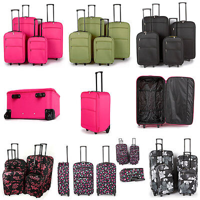 Extra Light Large Medium Small Cabin Trolley Luggage Suitcase Bag Value Case