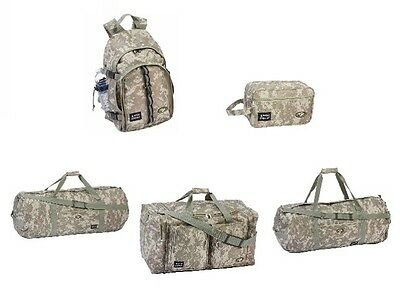 Camouflage 5 Piece Travel Set W/ Backpack, Duffle Bags, Tote & Shaving Bag - New